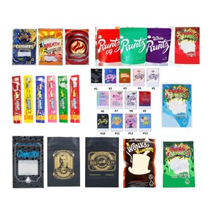 Kuru Ot Çiçek Packaging Yeni Nerds Halat Wonka Dank gummies Çerezler Chuckles Jungle Boys Runtz Joker UP 3.5g Mylar Paketi Çanta Vape