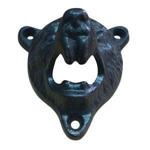 ABSS-Siyah Grizzly Bear Bira Şişe Açıcı Cast Iron Lodge Kabin Duvar Bar Abridor Açıcı Anahtarlık Diğer Mutfak Dining Şişe Pub Mounted