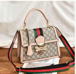 Designer Handbags New Fashion Large-capacity Bee Bag Atmosphere Luxury Handbag Small Square Bag Wild Tide Shoulder Diagonal Handbag 2020