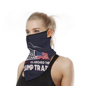 2020 América Elección Presidencial Trump triángulo Bufanda Pañuelo Máscara de múltiples funciones mágica de la cara de la bufanda al aire libre equitación babero