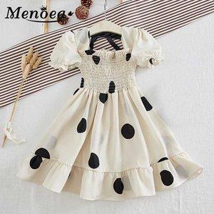 Menoea Moda Kız Parti Elbise 2020 Mesh Nokta Kısa Kollu Çocuk prenses elbise Casual Şık Çocuk Giydirme Elbise 2-7Y