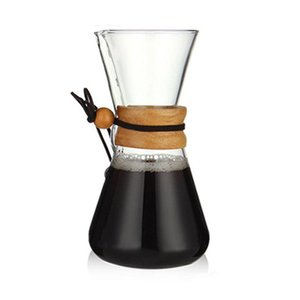 600ML Heat Resistant Glass Coffee Pot Coffee Brewer Cups Counted Maker Barista Percolator