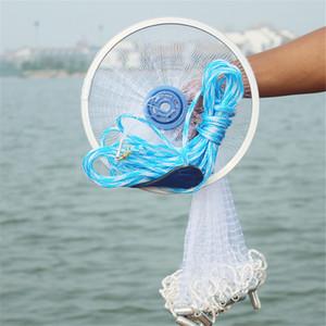 Magic Fishing Net Finefish Anillo de aluminio American Catch Fish Network Red de pesca herramienta pequeña malla Tiro de mano al aire libre peces 6.6