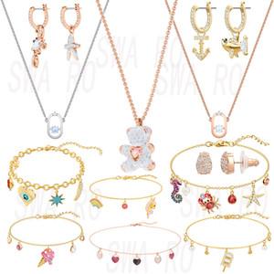 2019 moda Qualidade URSINHO OCEAN SHARK OCEAN CARANGUEJO multi Estilo Brilhante de cristal Feminino Luxury Jewelry aniversário Recomendar presente