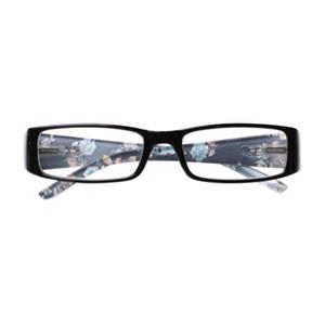 Henotin Женские Printed Reading Glasses маленький квадрат пластиковая рамка диоптрий 0 до +600