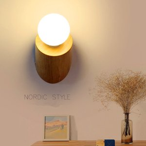 Nordic designer modern minimalist personality fashion creative wooden bedside corridor bedroom bathroom aisle decorative wall lamp