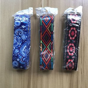 Printed Stretch Belt Durable Adjustable Sport Stretch Strap Belts Gym Waist Leg Fitness Yoga Belt Polyester + Cotton