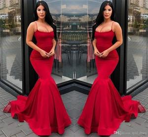 2019 El más nuevo diseño Vestidos de noche formales Ropa de fiesta Vestidos de fiesta de sirena 2018 Vestidos de noche rojos largos Vestidos para ocasiones especiales