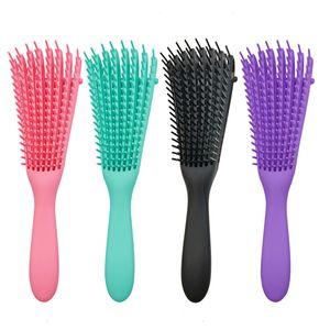 Brosse de cheveux de dérivation pour cheveux naturels, pinceau de déchets de cheveux pour Afro America 3A à 4C Kinky ondulé, bouclé, cheveux