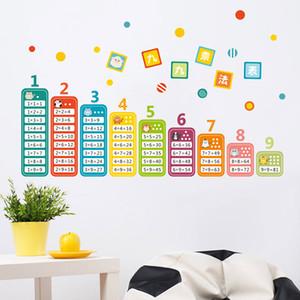 Мультфильм Дети 99 Таблица умножения Math Игрушка стена наклейка для Детской комнаты Детских Learn образовательных
