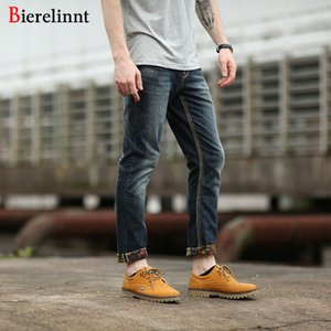 Elastic Hot Sale Casual Straight Slim Cotton Good Quality Denim Jeans Men,2017 Winter Retail & Wholesale Warm Men Jeans,169072