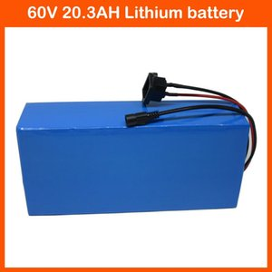Free customs tax 60V bicycle battery 60V 20AH scooter Battery 20.3Ah Li-ion akku use Panasonic 2900mah cell 30A BMS 2A Charger
