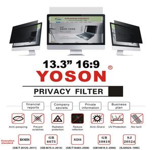 """13.3 """"Geniş Ekran Masaüstü Monitörleri için Gizlilik Filtresi Anti Peep Film Ekran Koruyucuları 16: 9 Oranı"""