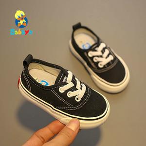 Babaya Zapatos de los bebés 2019 Otoño Nueva inferior suave de los zapatos de lona transpirable zapatos de los niños de los bebés niño encantador ShoesMX190926