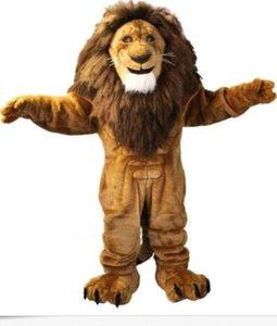 Amichevole del leone del costume della mascotte di formato adulto Wild Animal maschio Re Leone Carnival Party Mascotte Fit Suit Kit SME