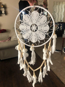 1 Adet El Yapımı Dream Catcher Stil Dokuma Ev Duvar Dekorların Asma Dekorasyon Beyaz Dreamcatcher Düğün Partiyi Asma