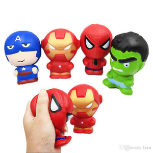 Matschig Cartoon-Figur Iron Man Spiderman Avengers Marvel Heros steigt langsam Simulation Squishies Parfüm Phone Charms Phone Straps