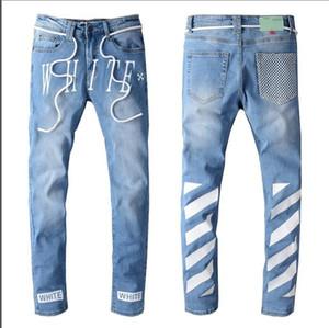 2020 novos alta qualidade de design de jeans masculina de jeans calças bordados apertados 28-40
