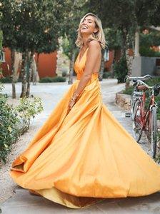 Вечерние платья русалки с блестками глубокий V образным вырезом длинные с плеча складки длиной до пола платья фрейлины сшитые на заказ robes de soir