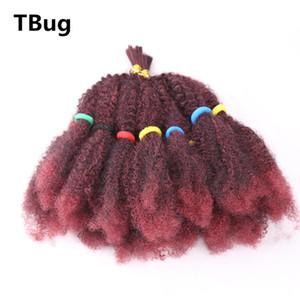 Afro Kinky A Granel Crochet Torção Trança Extensão Do Cabelo Para As Mulheres Senegalês Torção Glueless Fibra Sintética Fake Cabelo pedaço