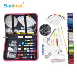 87Pcs Portable Seying Kit Travel Needles Quilting Thread Craft Plodes Life Essential Home Organizer Sewing Box New