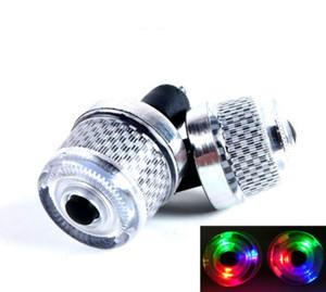 2 قطعة / المجموعة الملونة سلامة الدراجة النارية المقود النهاية led التوصيل ضوء إشارة تحذير ضوء الدراجة rgb led مصباح فلاش