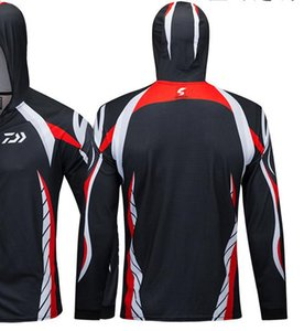 2018 New Quick-drying Clothing Long Sleeve Outdoor Breathable Fishing Shirts Anti Uv Hooded Fishing Clothes Sports Shirt