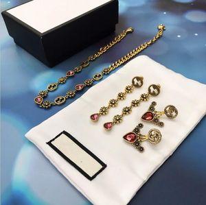 2020 della moda di New Gold-plated collana femminile retrò National Wind leone della collana della testa Orecchini Set selvaggio