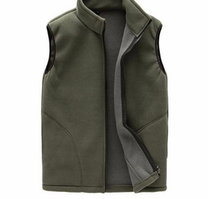 2019 Winter Fleece Hombre grueso chaleco caliente Outwear Casual térmica suave chalecos para hombre chaqueta sin mangas a prueba de viento, YA720