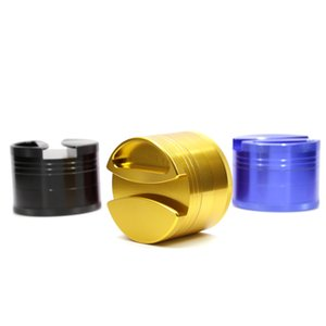New 4 layers diameter 75mm aluminium alloy herb grinder metal smoking grinder 4407