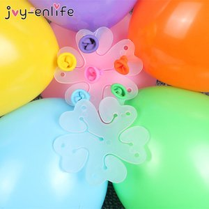 Birthday Party Decoration 10pcs Flower Modelling Seal Clips Latex Balloons Sealing Clips Wedding Party Decoration Supplies