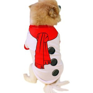 Christmas Clothing Pet Dog Winter Vest T Shirt Clothes Puppy Pet Apparel Warm Coats Jackets Small Dogs Clothing