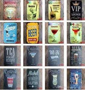 Ретро ледяное вино пивная табличка виски коктейль винтажный домашний декор настенные художественные картины металлические жестяные знаки живопись плакат железная наклейка 40 стилей