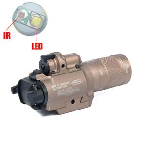 레드 레이저 표시된 버전 다크 지구와 NEW SF X400V-IR 손전등 전술 LED 총 빛 하얀 빛과 IR 출력