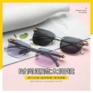 Gradient frameless sunglasses Oulylan Rimless Sunglasses Women Brand Designer Sun Glasses Gradient Shades Cutting Lens Ladies Frameless 4PAT