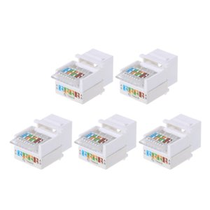 Computer & Office New 5pcs CAT5E UTP Network Module Tool-free RJ45 Connector Cable Adapter FOR AMP hot