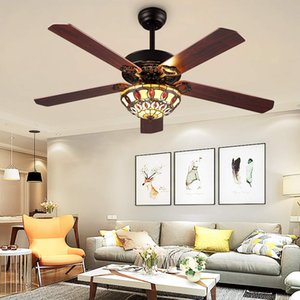 52-Inch Modern Ceiling Fans Led Light with 5 Wood Reversible Blades for Living Room Bedroom Dinning Room Remote Control 3 Speed