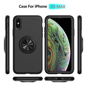 Cas de téléphone Roues liquide Porte-anneau magnétique mobile Shell POUR: Iphone 6 7 8 XS XR MAX Samsung Galaxy S8 S9 S10 NOTE9 PLUS