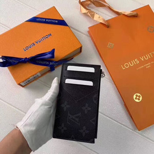 # 9636 paquet de cartes 5A + L Homme court Portefeuille V classique Mode Portefeuilles en cuir pour sac Coin extérieur femme d'embrayage Totes