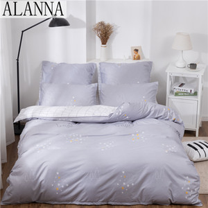 Alanna X-1021 Printed Solid bedding sets Home Bedding Set 4-7pcs High Quality Lovely Pattern with Star tree flower