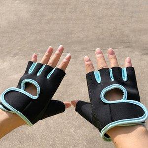 1Pair Men Women Gym Half Finger Sports Fitness Exercise Training Wrist Gloves Resistance Weightlifting Gloves Anti-Slip