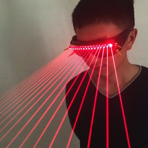 650nm Red Laser Gloss Line Laser X Men Police Glasses For LED Growing Light Performance Stage Clothes