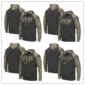 NCAA Alabama Crimson Tide Florida Gators Мужская Толстовка Salute Для обслуживания SiCline Therma Performance Camo Pullover Hoodie