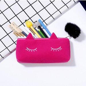 Senhora bonito Cosmetic Bag Cat Hairball Zipper bolsa de viagem de Higiene Pessoal Storage Bag Pouch Mulheres viagem composição de Higiene Pessoal Neceserair