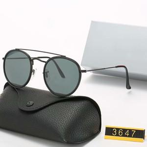 designer de marca clássica redondos óculos polarizados condução armação dos óculos metal do ouro Óculos Homens Mulheres Espelho Óculos de sol Polaroid lente de vidro