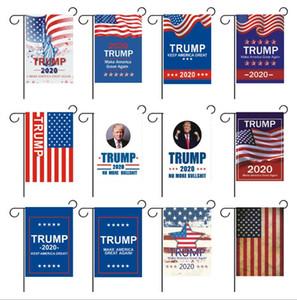 Yeni Çift taraflı Afiş Bayrakları Trump Bahçe Bayrakları 30x45 cm açık süslemeleri Oxford bahçe bayrakları Amerikan bahçe bayrağı Paskalya bayrağı T2I5208