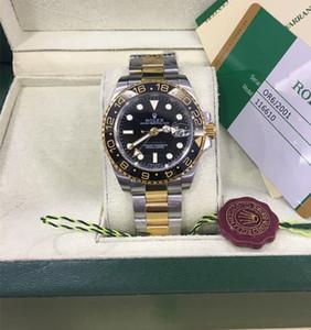 고품질 아시아 2813 운동 40mm GMT 세라믹 베젤 116710 116710blnr 자동 기계 망 남자 시계 시계