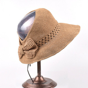 Local da Women Straw Sun Hat Visor aba larga Floppy dobrável Praia Hollow Verão Cap Feminino Bow férias Outdoor Floppy Sunhat