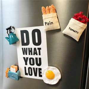 Creative bionic object 3D refrigerator magnets Nordic decorative magnetic food cute magnet gifts Home kitchen decoration props