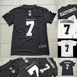 IMWITHKAP Jersey 7 Colin Kaepernick IM COM KAP 100% costurado das mulheres dos homens da Juventude Filme Futebol Jersey Black White Fast Shipping S-XXXL